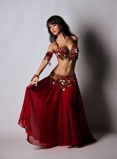 f2115a213 Burgundy Coin Bella Ameera Belly Dance Skirt, Belly Dance Outfit, Tribal Belly  Dance,