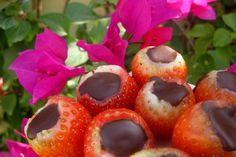 Fresas rellenas de chocolate
