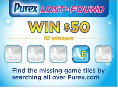 "*THIS SWEEPSTAKES HAS ENDED* Who wants to #win fifty bucks? Enter the Purex.com ""Lost & Found"" scavenger hunt for your chance at a Visa gift card!"