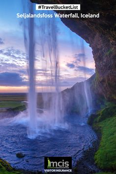 Did you know that there is a small cave behind #Seljalandsfoss waterfall, #Iceland which takes you to a magical world? #Caves #Waterfalls #Adventure #Explore #Travel #Insurance
