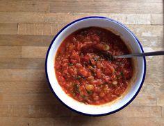 Tomato, chipotle, tarragon salsa