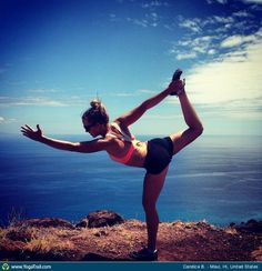 """#Yoga Poses Around the World: """"Dancer Pose - by Candice B."""""""