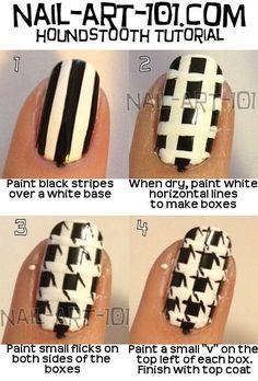 DIY houndstooth nail