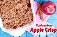 This healthy apple crisp recipe is sweet and simple to prepare but uses very little added sugar. 3 WW PP+