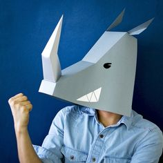 animal paper masks kfox