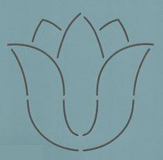 """Evening Tulip 5"""" - The Stencil Company"""