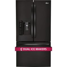 LG Electronics 28.8 cu. ft. French Door Refrigerator in Smooth Black with Dual Ice Makers-LFXS29626B - The Home Depot