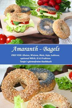 Glutenfreie Amaranth-Bagels! www.rezepte-glutenfrei.de