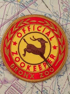 Bronx Zoo Official Zookeeper Souvenir Patch by HeydayRetroMart, $7.00
