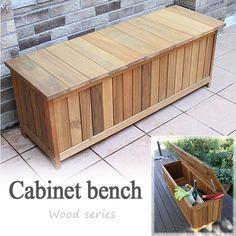 ベンチ ガーデンベンチ 木製物置 屋外用 天然木材収納庫 ...|エストアガーデン【ポンパレモール】