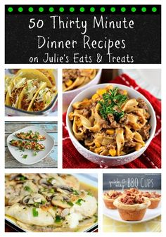 That's right, 50 easy dinner recipes!!