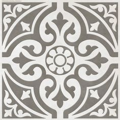 In love with these tiles!! especially against Farrow & Ball Elephants Breath ...Hammersmith Feature Grey Floor 331X331 | bathstore