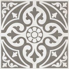 In love with these tiles!! especially against Farrow & Ball Elephants Breath ...Hammersmith Feature Grey Floor 331X331 | bathstore