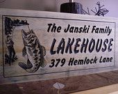 Lake house Fishing Sign Wood Family Name Plaques Cabin Signs Fisherman Est Signs Mancave bar signs fishing Sign Welcome Benchmark Sign #36