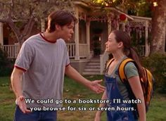 Gilmore Girls- One of the reasons I liked Dean. I liked him overall, but I preferred Jess and Rory together once Jess grew up a bit