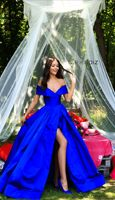 Off Shoulder Royal Blue Satin Ruffle Long Prom Dress A Line Women Party Gowns ,Sexy Custom Made Long Evening Gowns ,Long Prom Gowns With Side Slit Royal Blue Prom Dresses, A Line Prom Dresses, Cheap Prom Dresses, Quinceanera Dresses, Royal Blue Evening Gown, Royal Blue Gown, Wedding Dresses, Pageant Dresses, Evening Dresses