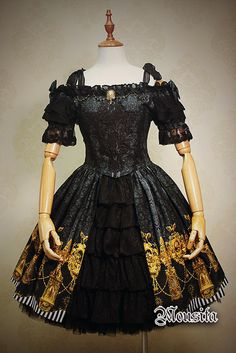 Mousita -Palace Prelude- Lolita OP Dress and Petticoat