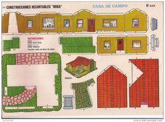 casitas MODERNAS recortables de papel - Buscar con Google