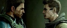 Resident Evil 6. Chris Redfeild and Piers Nivans. Admit it, you shipped them- and you shipped them hard.