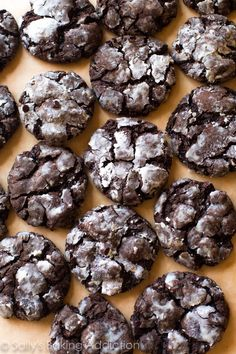 Double-Chocolate Crinkle Cookies | Community Post: 25 Delicious Christmas Cookies Santa's Guaranteed To Love