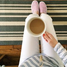 extra large coffee + pink vans  vans for j.crew  www.oceanstatestyled.com
