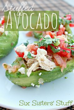 Healthy Stuffed Avocados from SixSistersStuff.com