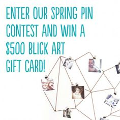 Our Spring Pin Contest ends tonight! Enter now and you could win a $500 Blick Art Gift Card. pin contest, gift cards, crafti art, diy idea, spring pin, diy contest