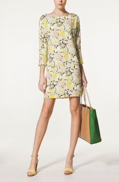 PRINTED FLOWERED DRESS WITH ZIPPED POCKETS - Massimo Dutti