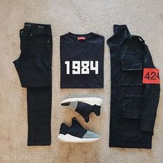 Outfit grid - Neat on the street Outfits Hombre, Swag Outfits, Dope Outfits, Fashion Outfits, Fashion Trends, Black Outfits, Urban Fashion, Love Fashion, Mens Fashion