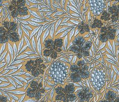 William Morris ~ Jungle Vines ~ Rustic  fabric by peacoquettedesigns on Spoonflower - custom fabric
