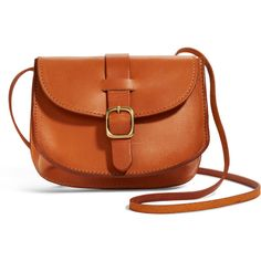 Rental Clare V. Jane Bag ($35) ❤ liked on Polyvore featuring bags, handbags, shoulder bags, brown, crossbody handbags, brown cross body handbags, buckle purses, brown cross body purse and brown crossbody