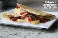 Turkey & Cranberry Quesadillas Recipe | Mix and Match Mama