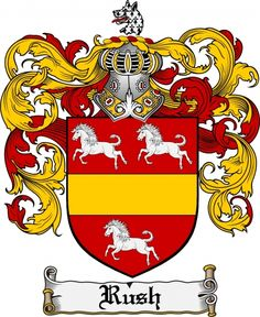Rush Coat of Arms Rush Family Crest Instant Download - for sale, $7.99 at Scubbly