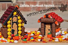 A Kid Friendly Spooky Haunted House Craft with Mars Candy