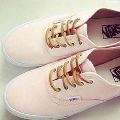 Light pink peach vans