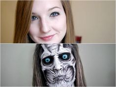 Transform Yourself Into Creepy Monsters Cool Halloween Makeup, Halloween Costumes, Ghost Makeup, Creepy Monster, Painted Faces, Costume Makeup, Hallows Eve, Monsters, Owl