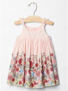 Shirred floral dress | Gap