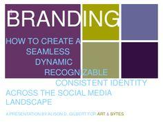 Brand recognition across the social media landscape by Alison D. Gilbert via slideshare | http://www.slideshare.net/AlisonGilbert/branding-presentation-34976696