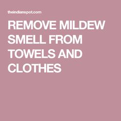 It is time that you learned how mold can make you sick and how you can prevent against it. Become educated about mold! Remove Mold From Clothes, Remove Mould From Fabric, Mildew Stains, Towels, Sick, Indian, Hand Towels, Towel, Bath Linens