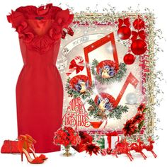 """""""Red Party Dress"""" by feelgood35 on Polyvore"""