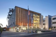 West Hollywood Automated Parking Garage: The First Municipal Automated Garage in California Minimalist Office, Minimalist Interior, Parking Solutions, Land Use, Garage Design, Beautiful Buildings, Sustainable Design, West Hollywood, Design Firms