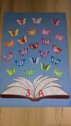 Crafts For Kid Inspiration For Children Of All Ages - Lumax Homes Classroom Charts, Classroom Board, Diy Classroom Decorations, School Decorations, Art For Kids, Crafts For Kids, School Doors, Board Decoration, Library Displays