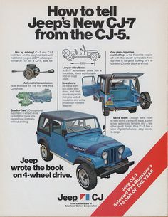 Jeep CJ-7 Ad (1976). It's from the year mine was built!