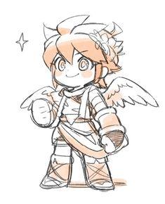 Games Memes, Anime Manga, Anime Art, Kid Icarus Uprising, Watch Drawing, Nintendo Super Smash Bros, Cartoon Sketches, Kawaii Chibi, Fire Emblem