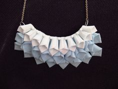 Turquoise dragon scales - clay nacklace