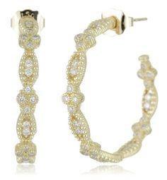 Judith Ripka Hoop Earrings