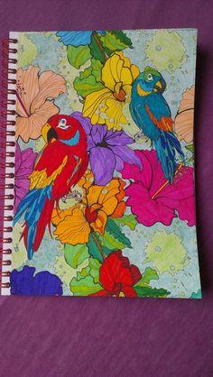 Kleurplaten Volwassenen Papegaai.Pinterest