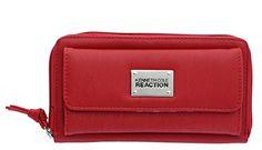 Kenneth Cole Reaction Womens Napa Zip-Around Urban Organizer Wallet (SOFT RED) - http://todays-shopping.xyz/2016/06/27/kenneth-cole-reaction-womens-napa-zip-around-urban-organizer-wallet-soft-red/