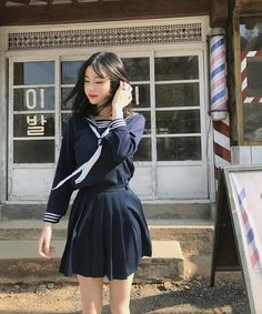 {6~18} {female school uniforms} ~ only accepting {6~18 both genders} ~ this option in always light sleeves ~ pretty navy blue! pretty colors for both