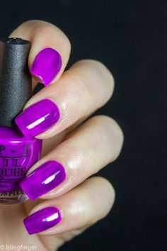 OPI Push & Pur-Pul. http://www.blingfinger.net/2014/05/opi-neon-collection-2014-swatches-and.html